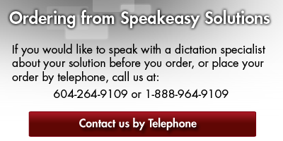 Ordering from Speakeasy Solutions Inc.