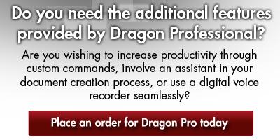 Order Dragon NaturallySpeaking Professional