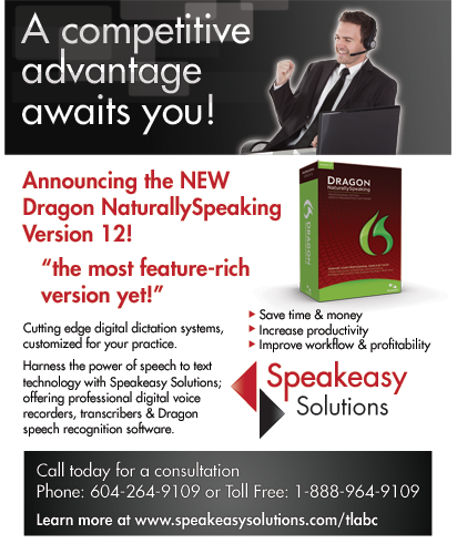 Dragon ad for TLABC