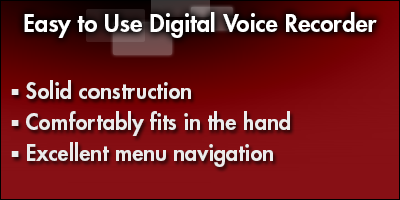 Easy to Use Digital Voice Recorder