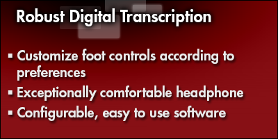 Robust Digital Transcription