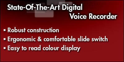 State-Of-The-Art Digital Voice Recorder