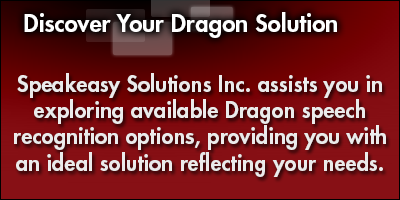Discover Your Dragon Speech Recognition Solution