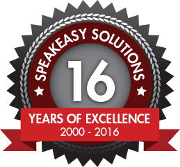 Speakeasy Solutions 16th Anniversary 2000 - 2016