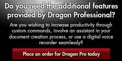 Order Dragon NaturallySpeaking Professional