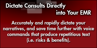 Dictate Consults Directly into Your EMR