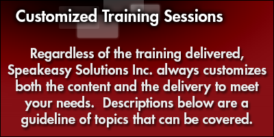 Customized Training Sessions